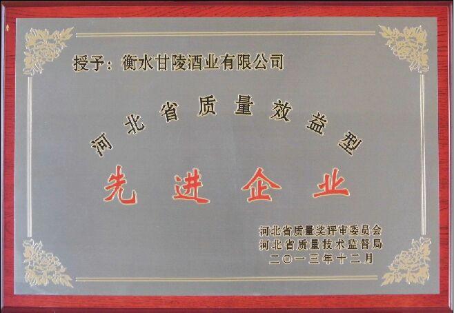 河北省质量效益型先进企业